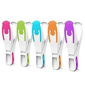 Vilenia Home 50 Stück Premium Wäscheklammern Softgrip - Ideal für Klammerbeutel, Wäscheklammern Korb oder Wäscheständer - Wäscheklammer aus Kunststoff ohne Druckstellen