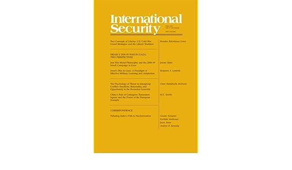 International Security 37:2 (Fall 2012)