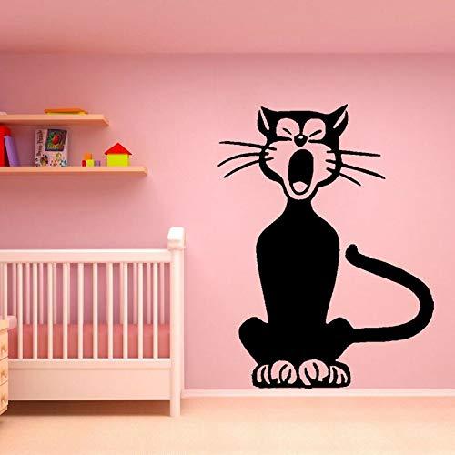 Schlafzimmer Katze Song Lustige Wandaufkleber Aufkleber PVC Deco ()