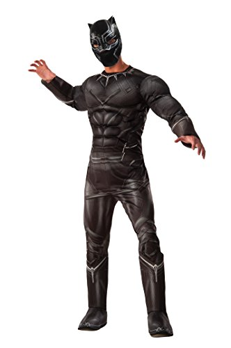 Comic Kostüme Fancy Dress Marvel (Rubie 's Offizielles Marvel Black Panther Deluxe Kostüm für Erwachsene X-Large)