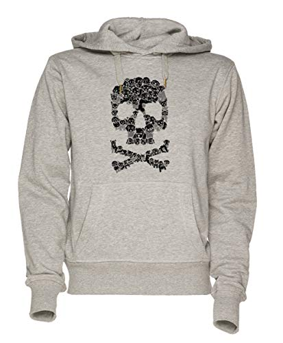 Jergley Pawsitively Bitchin Unisex Grau Sweatshirt Kapuzenpullover Herren Damen Größe XL | Unisex Sweatshirt Hoodie for Men and Women Size XL - Dog Skull Hoodie Kleidung