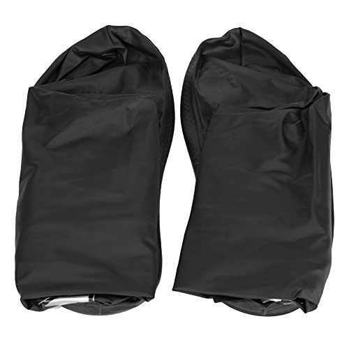 Acouto Motorcycle Scooter Bike Cycling Impermeabile antiscivolo Scarpe Cover per Rainy Snowy Day(L-black)