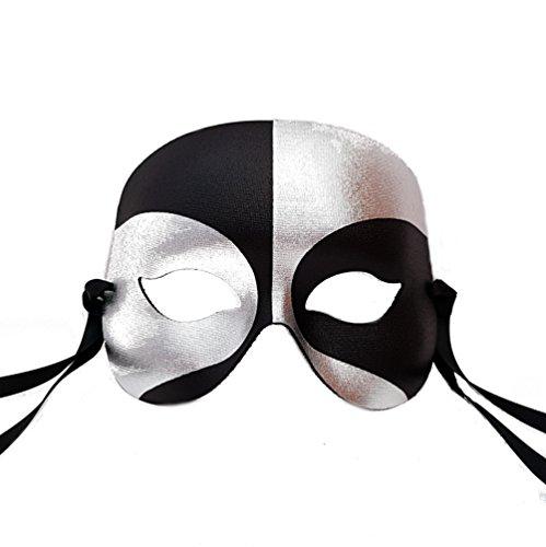 Für Den Maske Mann (Schwarz und Silber Roboter Männer Venezianische faschingsmasken Maskerade maskenball maske herren - Erstklassige Qualität, in Italien)