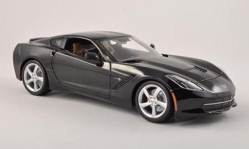 Preisvergleich Produktbild Chevrolet Corvette Stingray (C7), schwarz , 2013, Modellauto, Fertigmodell, Maisto 1:18