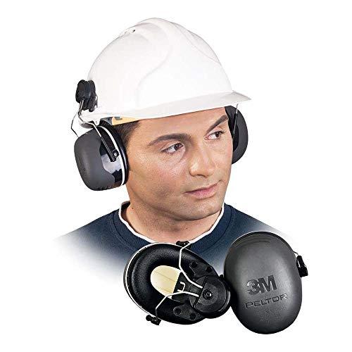 3M Peltor X5 Kapselgehörschutz X5P3E, Helmbefestigung - SNR 36 dB, schwarz -
