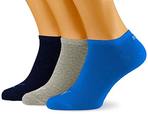 PUMA Herren UNISEX SNEAKER PLAIN 3P Socken, blue/Grey melange, 39-42 (3er Pack)