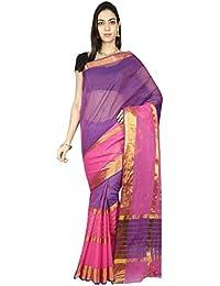 CLASSICATE From the house of The Chennai Silks - Venkatagiri Pure Cotton Saree(Purple - CCOPSC9394)