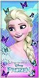 ELSA aus Disneys Frozen- Kinder - Handtuch/Saunatuch / Strandtuch/Duschtuch / Badetuch für Mädchen - 70 x 140 cm - aus Baumwolle- Tolle Geschenkidee