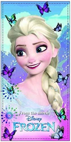 Kinder - Handtuch/Saunatuch / Strandtuch/Duschtuch / Badetuch - Motiv: ELSA aus Disneys Frozen- - 70 x 140 cm - aus Baumwolle- tolles Geschenk für Mädchen (Frozen Kinder Geschenke)