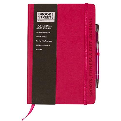 sports-fitness-diet-notebook-hardback-a5-diet-gift-fuchsia-pink