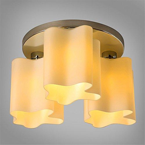 Larsure Vintage Style moderne Lampe de plafond, lampes de plafond de nuages style léger petite chambre salle d'études led 3-tête, 480*260mm lumière plafond