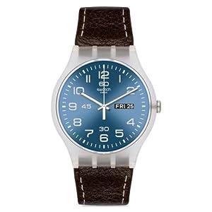 Swatch Classic – Reloj de Cuarzo, Correa de Cuero