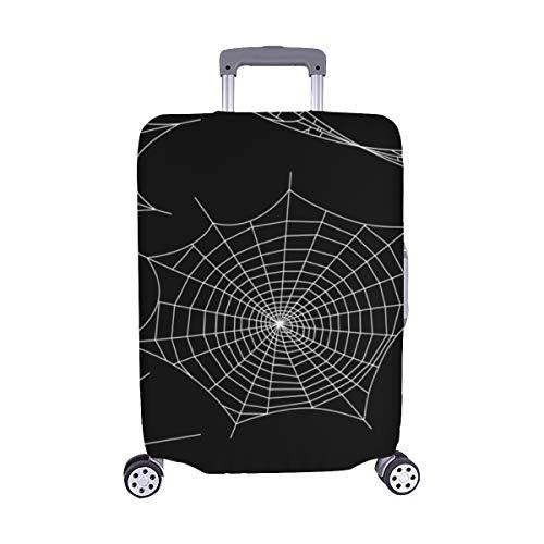 Schwarze Spinnen und zerbrochene Bahnen Muster Spandex-Trolley Reisegepäck-Schutzkoffer-Abdeckung 28,5 X 20,5 Zoll