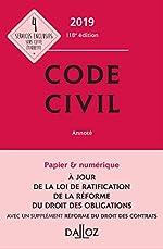 Code civil 2019, annoté - 118e éd. de Pascale Guiomard