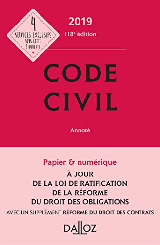 Code civil 2019, annoté - 118e éd. par Collectif