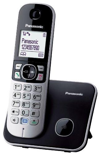 Panasonic KX-TG6811 - Teléfono DECT(Wall/Desk, Digital, 120 entradas, LCD), Color blanco, negro (Importado de Italia)