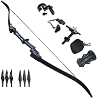 Archery Recurve Bow 30-60lbs Takedown Hunting Adult Bow