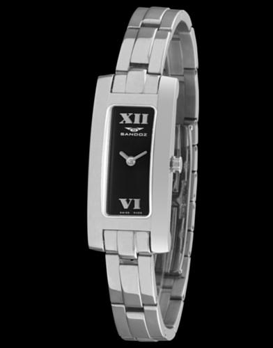 Sandoz 72524–05–Orologio da donna metallico