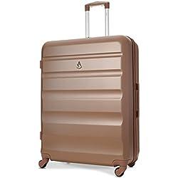 Aerolite ABS Bagage de soute Valise Rigide Léger 4 roulettes Grand 79cm (Or Rose)