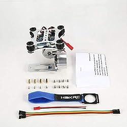 HAKRC 2 Axes CNC métal brushless BGC2.2 Panneau de contrôle PTZ Gimbal stabilisateur pour RC Drone Caméra Gopro3 DJI Phantom
