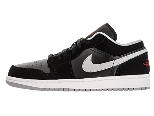 Nike Air Jordan 1 Low, Baskets Basses Homme Noir (black / gym red-wolf grey-white)