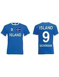 Island EM 2016 Retro Trikot Sigthorsson Fanshirt T-Shirt