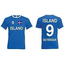 Island WM 2018 Retro Trikot Sigthorsson Fanshirt T-Shirt