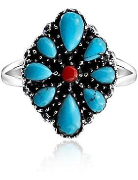 Bling Jewelry 925 silber Oval rekonstituierte Türkis Südwest Stil Ring