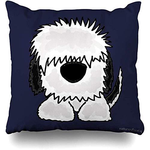 LisaArticles Cushion Cover,Divertido Viejo Perro Pastor Inglés Arte Original Fundas De Almohada Novedosas...