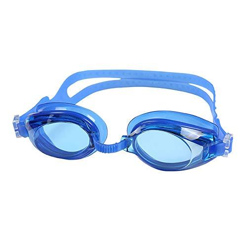 Antifogging Schwimmbrillen Race Goggles High Definition Diving Goggles Silica Gel Goggles for Adult Swim Glasses,Blau