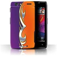 STUFF4custodia/cover per Motorola RAZR MAXX/Viola/Arancione Design/Custom Pittura lavoro Collezione