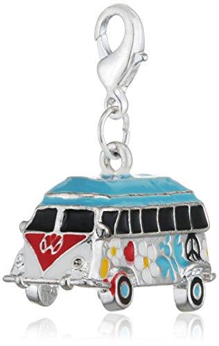 """Charm """" Hippie Bus """" 3D für Bettelarmband oder Halskette"""