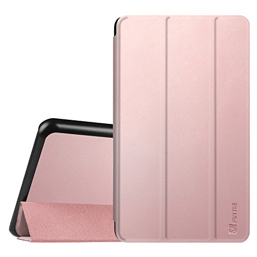 Fintie Hülle für Samsung Galaxy Tab A 7.0 Zoll SM-T280 / SM-T285 Tablet (2016 Version) - Ultra Schlank Superleicht Ständer Slim Shell Case Cover Schutzhülle Etui Tasche, Roségold