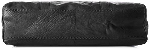 Spikes & Sparrow - Zip Bag, Borsette da polso Donna Nero (Black)