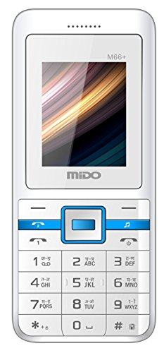 Mido M66+ Dual Sim Feature Phone (white-blue)