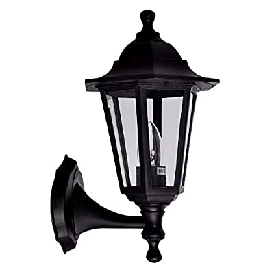 Traditional Style Outdoor Security IP44 Rated Wall Light Lantern produced by MiniSun - quick delivery from UK.