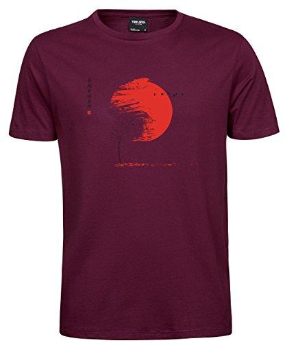 makato Herren T-Shirt Luxury Tee Herbst Wine