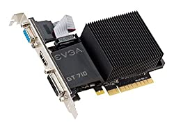 EVGA GT 710 1GB DDR3 64bit Dual Slot, Passive 01G-P3-2710-KR