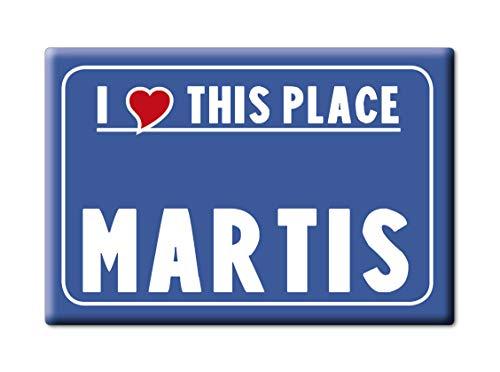 Enjoymagnets MARTIS Souvenir Sardegna (SS) KÜHLSCHRANK Magnet Fridge ICH Liebe Gift I Love (VAR. CARTELLO) - Ss-side-by-side Kühlschrank