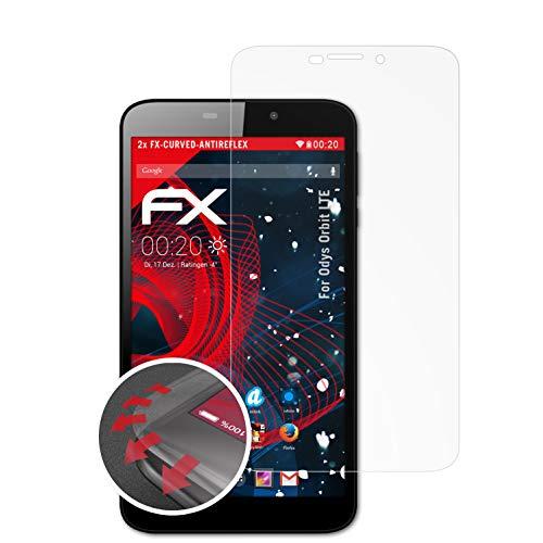 atFolix Schutzfolie passend für Odys Orbit LTE Folie, entspiegelnde & Flexible FX Bildschirmschutzfolie (2X)