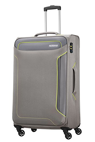 American Tourister Holiday Heat Valigia, Spinner L (79.5cm-108L), Grigio (Metal Grey)
