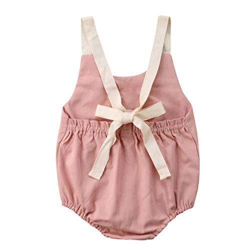 Baby-Shirt-Reine-Farbe,Frisch-Elegant-Neugeborenen-Baby-MäDchen-Bowknot-RüCkenfreie-Strampler,Bodysuit-Outfits-Kleidung-Sommer,Mode-Schön-Freizeit-Süß-Warm-Stilvoll-Süße-Kinderbekleidung