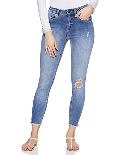 ONLY Damen Skinny Jeans, Blau (Light Blue Denim), M /L30
