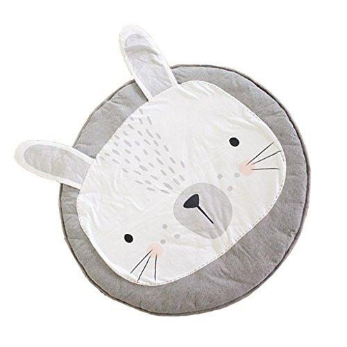 MagiDeal Baumwolle Rund Kinder Teppich / Kinderteppich / Spielteppich unter Betthimmel Baldachin , Lovely Kaninchen Design , 95cm