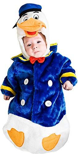 Costume di carnevale da saccottino paperotto vestito per neonato bambino 0-3 mesi travestimento veneziano halloween cosplay festa party 3179 taglia 0-3