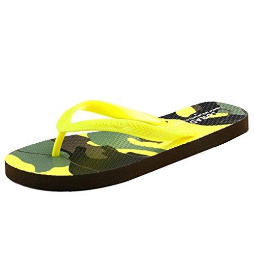 Baymate Unisex Adulto Camuffare Infradito Antiscivolo Coppie Pantofole Spiaggia Dei Sandali Donna Limone