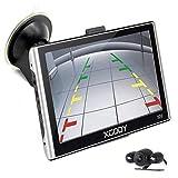 Navigazione GPS per auto camion Xgody 17,8cm touch screen navigatore satellitare con 50,8cm cavi telecamera di retromarcia sostegno Speed camera Alert Lifetime free UK Irlanda Europa mappe