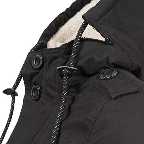 Ragwear Damen Winterjacke Outdoorjacke Ewok Schwarz018 Gr. M - 6