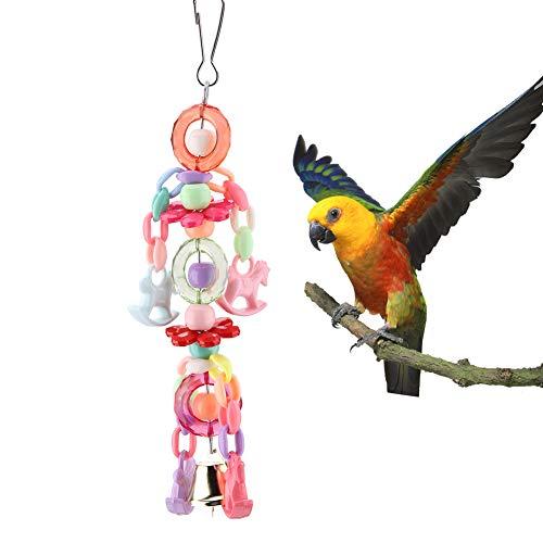 Pet pappagallo masticando giocattolo appeso campana Pet Bird gabbia amaca altalena appesa acrilico stringa gabbia per uccelli accessori decorativi attività completamente coinvolgente per il tuo uccell