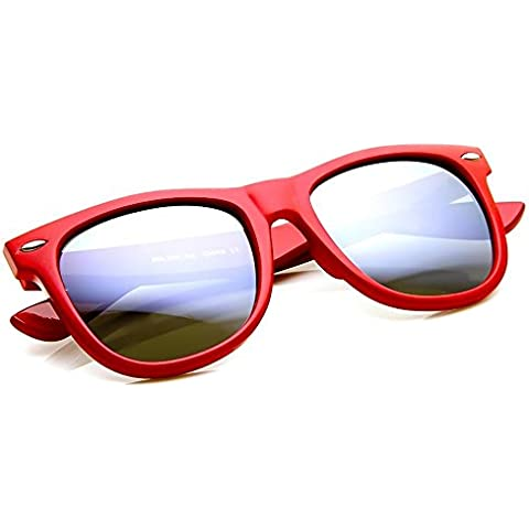 Gafas de sol KISS ® mod. Gafas de espejo VINTAGE WAYFARER gafas de sol plata espejo-hombre mujer